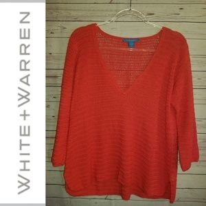 White + Warren Open Knit Tunic | Size Small